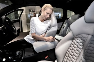 Gwyneth Paltrow autographs an Audi RS 6 Avant – The Oscar-winning actor visits Audi City in London's Piccadilly to put her name to the latest high performance Audi Avant that will be auctioned at the annual White Tie & Tiara Ball to raise funds for the Elton John AIDS Foundation.